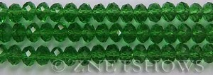 Tiaria Glass Crystal 24-Pine green rondelle Beads <b>8x5mm</b> faceted     per   <b> 8-in-str</b>
