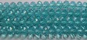Tiaria Glass Crystal 27-Aquamarine rondelle Beads <b>8x5mm</b> faceted     per   <b> 8-in-str</b>