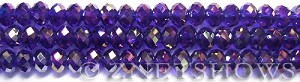 Tiaria Glass Crystal 33AB-Royal Blue AB rondelle Beads <b>8x5mm</b> faceted     per   <b> 8-in-str</b>