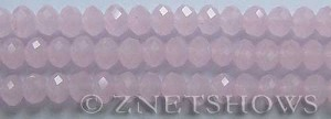 Tiaria Glass Crystal 48-Opaque Blossom Pink rondelle Beads <b>8x5mm</b> faceted     per   <b> 8-in-str</b>