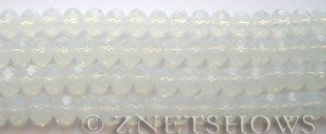 Tiaria Glass Crystal 86-Moonstone Opal rondelle Beads <b>8x5mm</b> faceted     per   <b> 8-in-str</b>