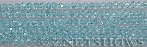 Tiaria Glass Crystal 28-Turquoise Bay bicone Beads <b>4mm</b> faceted     per   <b> 8-in-str (50-pc-str)</b>
