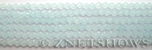 Tiaria Glass Crystal 79-Opaque Light Azure bicone Beads <b>4mm</b> faceted     per   <b> 8-in-str (50-pc-str)</b>