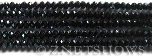 Tiaria Glass Crystal 100-Hematite rondelle Beads <b>4x3mm</b> faceted     per   <b> 6-in-str (50-pc-str)</b>