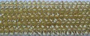 Tiaria Glass Crystal 10-Sunglow rondelle Beads <b>6x4mm</b> faceted     per   <b> 8.5-in-str (50-pc-str)</b>