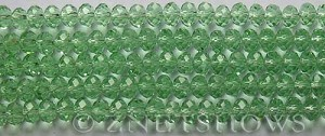 Tiaria Glass Crystal 23-Peridot rondelle Beads <b>6x4mm</b> faceted     per   <b> 8.5-in-str (50-pc-str)</b>