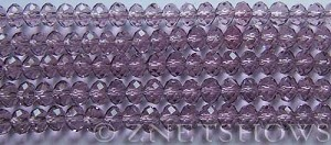 Tiaria Glass Crystal 36-Light Amethyst rondelle Beads <b>6x4mm</b> faceted     per   <b> 8.5-in-str (50-pc-str)</b>