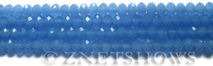 Tiaria Glass Crystal 47-Opaque Sky Blue rondelle Beads <b>6x4mm</b> faceted     per   <b> 8.5-in-str (50-pc-str)</b>