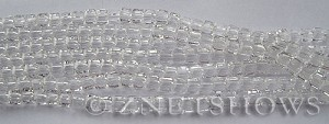 Tiaria Glass Crystal 01-Crystal cube Beads <b>3mm </b> faceted     per   <b> 8.5-in-str  (71-pc-str) </b>