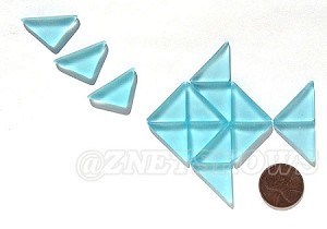 Cultured Sea Glass Cabachons and Art Tiles Triangle Puffed <b>25x12mm</b> 28-Turquoise Bay per <b>15-pc-bag</b>